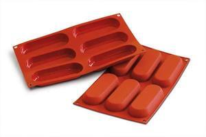 6 pc. Savoiardo silicone baking mould