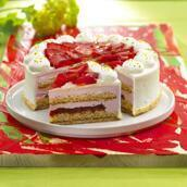 Strawberry cream fix with pieces 100 g.