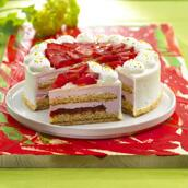 Strawberry cream fix with pieces 1 kg. big buy - save 20%