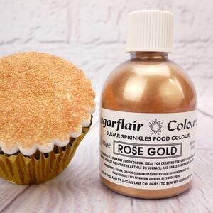 Sugarflair sugar sprinkles Rose Gold 100 g.