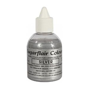 Glitter Silver airbrush color fra Sugarflair, 60 ml.