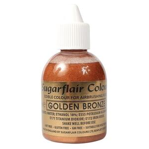 Glitter Golden Bronze airbrush color fra Sugarflair, 60 ml.