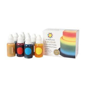 sugarflair airbrush color set, 8 x 14 ml. without alcohol