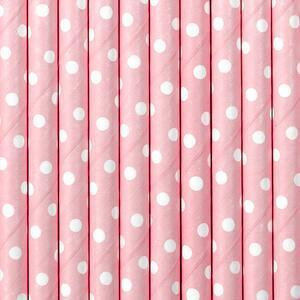 10 pc. Paper Straws, light pink, 19.5cm