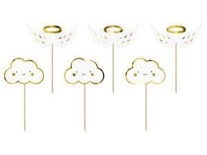 6 pc. Cupcake toppers - Clouds and Wings, 12.5 cm