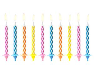10 pc. Birthday candles, mix, 6cm