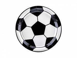 6 pc. Plates Football, mix, 18cm
