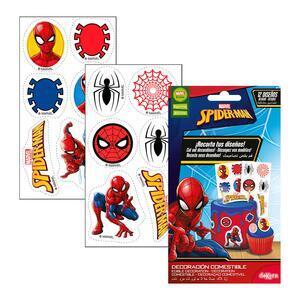 12 pc. Sugar Wafer Muffin Topper Spiderman