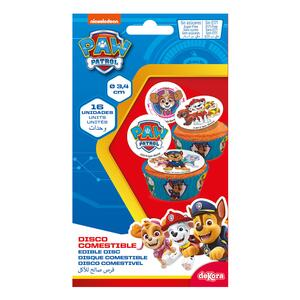 16 pc. New Sugarpaper Muffin Topper Paw Patrol 3,4 cm. dia