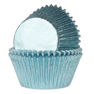 House of Marie Baking Cups Foil Baby Blue pk/24