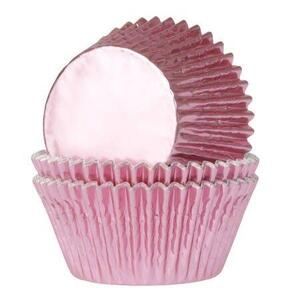 House of Marie Mini Baking Cups Foil Baby Pink pk/36