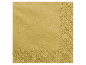20 ps. Napkins, 3 layers, gold metallic 20 cm.