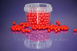 Large Sugar Pearls 7mm - Red 80 g.