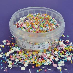 Rainbow sprinkles mix 100 g.