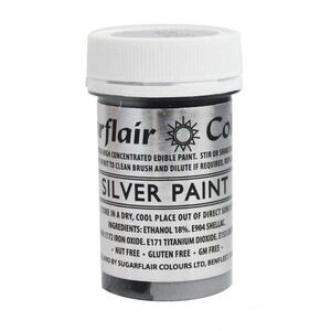 Sugarflair - Silver Edible Matt Paint 20g