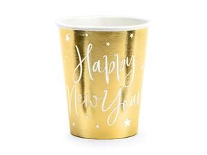 Cups Happy New Year, gold, 220ml