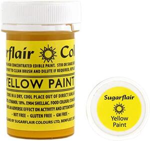 SUGARFLAIR Yellow - Edible Matt Paint 20g
