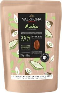 Valrhona Azélia 35% chocolate 250 g. in gift bag.