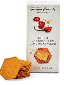 Chili og olivenolie crackers, 125 g.