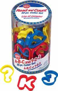 50 pieces. A-B-C and 1-2-3 Cutter Set