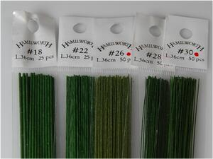Wire for flowers - 50 pcs. 36 cm. darkgreen (Matt) #24
