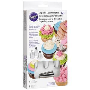 12 pieces cup cake decorations set
